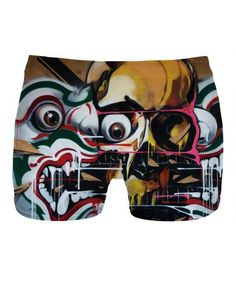 Men's underwear with Bangkok Skull Graffiti Art