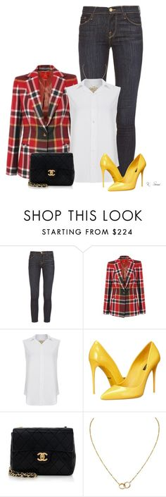 """Getting My PV fix."" by ksims-1 ❤ liked on Polyvore featuring Frame Denim, Vivienne Westwood Red Label, Current/Elliott, Dolce&Gabbana, Chanel and Cartier"