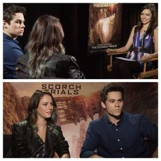 Dylan and Kaya disclosing Maze Runner Interview