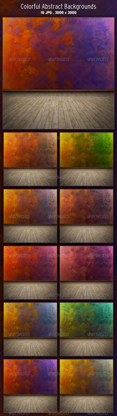 Colorful Abstract Backgrounds  #GraphicRiver         10 Colorful Abstract Backgrounds in RGB mode 3000×3000px – 300dpi  	 Main archive includes: 10 JPG files  	 Enjoy!     Created: 7November11 GraphicsFilesIncluded: JPGImage Layered: No MinimumAdobeCSVersion: CS PixelDimensions: 3000x3000 PrintDimensions: 10x10 Tags: artisticwall #colorful #colorfulwall #paint #paintwall #painting #texture #wall #wallbackground #wallpainting #walltexture