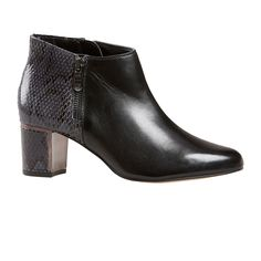 Arial2 from Van Dal is your answer if you are looking for a smart ankle boot that combines comfort and style! This boot is finished in a luxurious black sheep's leather with on-trend quilted detailing on the back outer edge. The block heel is trimmed with a modern metallic panel, while exposed side zips complete the look! They have amazing underfoot cushioning, making these boots ideal for day to night transitioning.