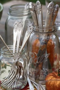 Mismatched cutlery