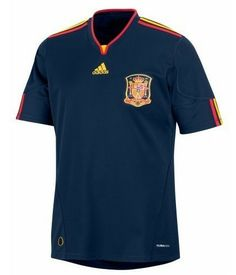 2010 Spain Away Jersey. Ive wanted this jersey since they showcased it. I somehow ended up with another red Torres jersey lol Now it's a mission to find it :( Spain Soccer, Soccer Jerseys, Cheap Shirts, Fifa World Cup, Jersey Shirt, Fc Barcelona, Weather Conditions, Polo Ralph Lauren, Free Shipping