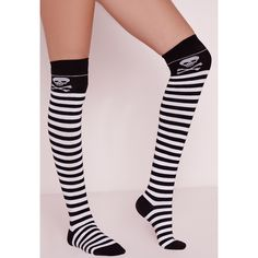 1b7c908e4 Missguided Stripy Halloween Socks ( 10) ❤ liked on Polyvore featuring  intimates