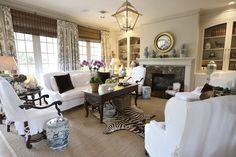 Joni Webb's updated family room via Cote de Texas