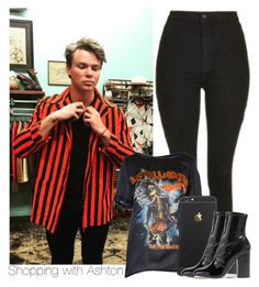 Shopping with Ashton by cliffornax on Polyvore featuring polyvore, moda, style, Dsquared2, Topshop, Valentino, fashion, clothing, 5sos, ashtonirwin, ashton, Irwin and 5sosoutfits