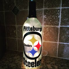 NFL Pittsburgh Steelers wine bottle light by BERKSWINEDESIGN