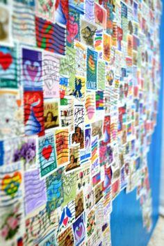 Love Postage Stamp Map | paperyandcakery.com