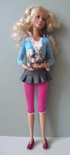 MATTEL Barbie Pet Shop Mom Dog Luv me Tricky Triplets TWINS SET-2 Puppies & Doll | eBay