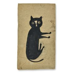 Bill Traylor - Black Cat offered by Allan Katz Americana on InCollect Zoo 2, Illustrations, Illustration Art, Black Cat Art, Black Cats, Image Chat, Art Brut, Arte Popular, Naive Art