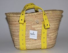 $150 Souk Market Basket handmade in Morocco from Palm Leaves and Leather, closeout price $28 delivered. Awesome upscale tote bag!