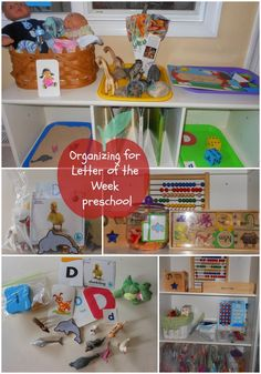 Organize for Letter of the Week Preschool part 1 from Natural Beach Living