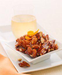 Honey Orange Glazed Almonds