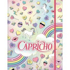 Caderno Argolado Capricho Caderno Argolado Universitário Cartonado com Elástico Capricho - 80 Folhas R$ 45,90