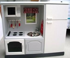 TV cabinet as a play kitchen!!!!!!