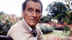 Peter Cushing in his garden at Whitstable
