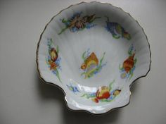 Pretty Little Sea Shell Dish//Fine China Ben Rickert//Made in
