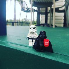 Even the Dark Lord needs his morning coffee ... #lego #starwars #legostarwars #darthvader #legodarthvader #legostormtrooper #stormtrooper #legostagram #toyslagram #toystagram #australia #brisbane #outdoor #adventuresofvaderandstormy #coffee by bcdahorrid