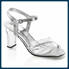 11926b0cb8a Clear Silver Princess Glass Slippers Flower Girl Junior Bridesmaid Shoes 5  6 7 8 in Clothing