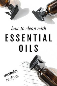How to clean naturally with essential oils. Gone are the days of holding my breath so as not to inhale the fumes, or wearing those weird yellow gloves to protect my skin. I've started making natural, non-toxic, cleaning products with essential oils and am beyond excited to share them with you! #essential #oils #clean #diy #nontoxic #cleaning