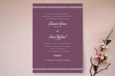 Ornamental Formal Wedding Invitations by Laura Hankins at minted.com