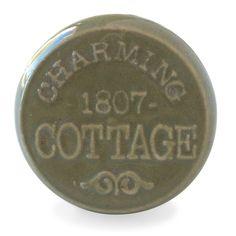 Bouton de Meuble Charming Cottage Vert