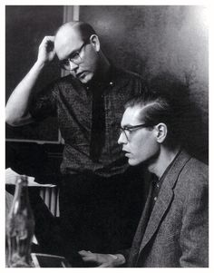 """Bill Evans Jim Hall One of the most inspired and original of all recorded jazz duets, """"Undercurrent,"""" 1962 Jazz Artists, Jazz Musicians, Music Artists, Ivy Look, Bill Evans, Kind Of Blue, Cool Jazz, Jazz Guitar, Music Guitar"""