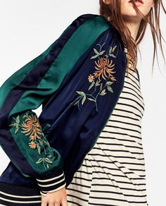 Image 4 of EMBROIDERED REVERSIBLE BOMBER JACKET from Zara