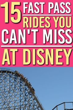 Which rides are fast pass worthy at Walt Disney World There are so many rides at Walt Disney World. Here are the top 15 rides that you should get Fast Passes so you can save time in the line ups. Best Disney Rides, Walt Disney World Rides, Disney World Resorts, Disney Vacations, Disney Trips, Disney Travel, Orlando Theme Parks, Orlando Disney, Disney Parks
