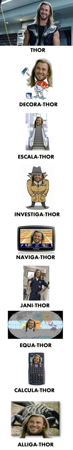 Funny pictures about Thor. Thor Everywhere. Oh, and cool pics about Thor. Thor Everywhere. Also, Thor. Thor Everywhere. Avengers Humor, Thor Meme, Funny Marvel Memes, Dc Memes, Marvel Jokes, Funny Jokes, Marvel Marvel, Thor Jokes, Funny Geek