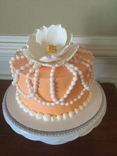 Anniversary tier in peach