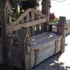 Unique Ideas For Farmhouse Garden Benches - Enter DIY