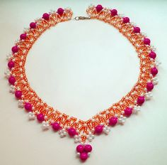 Free pattern for necklace Levona