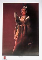 "Art Print by Debra Colburn after a photograph by Edward S. Curtis-""Gray Bear-Yanktonai (1908)"""