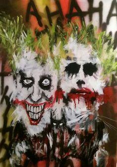 #pintura #acrílico #joker #guasón #murcielago