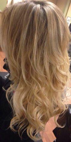 Blonde Balayage ombré highlights