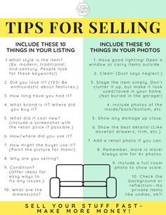 Tips for Getting the Most Money Selling Secondhand - Loving Here Business Planner, Business Tips, Online Business, Work From Home Jobs, Make Money From Home, How To Make Money, Sell Your Stuff, Things To Sell, Ebay Selling Tips