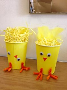Easter chick cups
