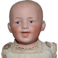 All Original German Bisque Shoulder Head Gebruder Heubach Character Boy
