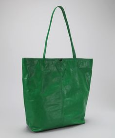 Love this Green East West Tote by Latico Leather on #zulily today!