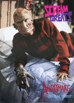 Freddy Krueger Nightmare on Elm Street Movie.