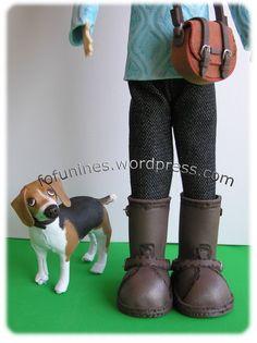 Fofucha con perro beagle