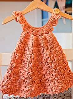 Crochet dress PATTERN - Bell Dress (sizes up to 6 years) (English only) Crochet Girls Dress Pattern, Baby Girl Dress Patterns, Baby Dress, Ravelry, Moda Crochet, Belle Dress, Vest Pattern, Little Dresses, Crochet Clothes