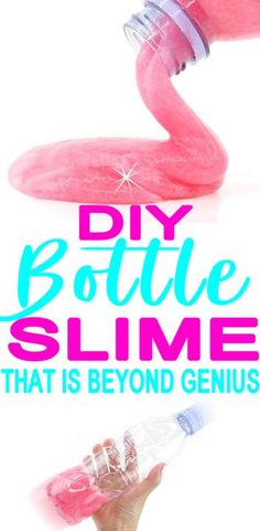 How To Make Slime In A Bottle! DIY no mess bottle Slime! Slime recipes that are . - How To Make Slime In A Bottle! DIY no mess bottle Slime! Slime recipes that are easy and simple. Summer Activities For Teens, Crafts For Teens To Make, Craft Activities For Kids, Diy For Teens, Kids Crafts, Craft Ideas, Daycare Crafts, Kids Diy, Craft Tutorials