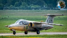 Saab 105 of the Swedish Air Force Historic Flight team at Poznan Aerofestival 2016 May airshow in Poland