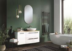 Meble łazienkowe/ bathroom furniture Rolly Collection Double Vanity, Bathroom Lighting, Mirror, Furniture, Design, Home Decor, Bathing, Bathroom, Gray