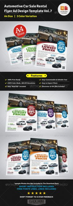 Automotive Car Sale Rental Flyer Ad Template, Ads and Cars - car for sale template