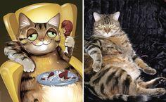 Портреты домашних животных написанные с учетом характера питомца (21фото) » Картины, художники, фотографы на Nevsepic