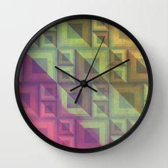 Rainbow Wall Clock by VessDSign - $30.00