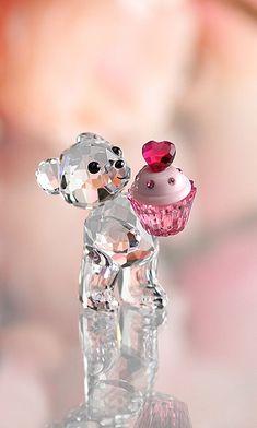 Frivolous Fabulous - Swarovski Teddy Bear Pink Cupcake for Miss Frivolous Fabulous
